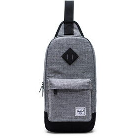 Herschel Heritage Shoulder Bag raven crosshatch/black
